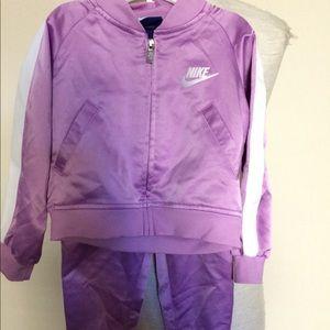 Nike Lavender 2-Piece Tricot Track Set Sz 2T $49